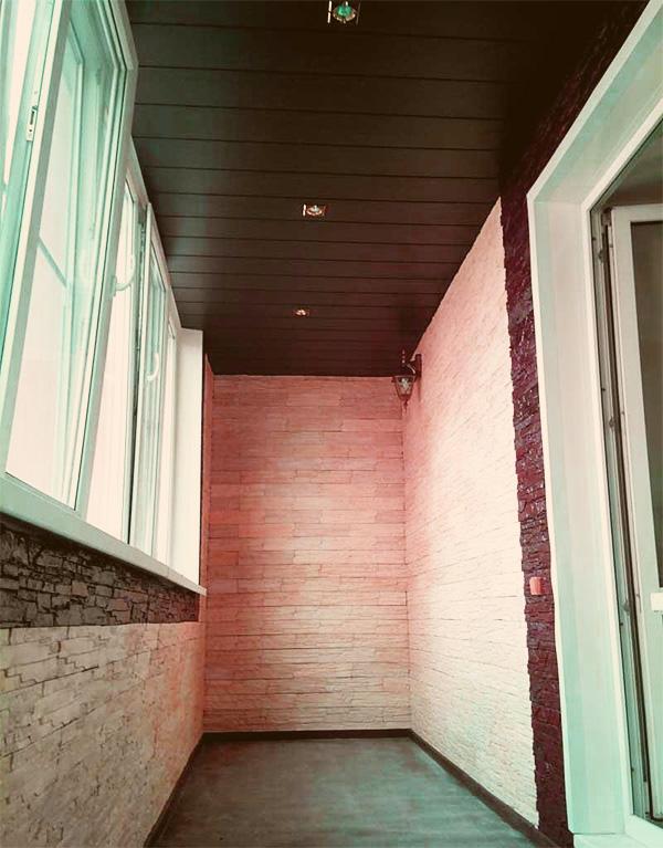 """Отделка балконов гипсокартоном - """"с балконом""""."""