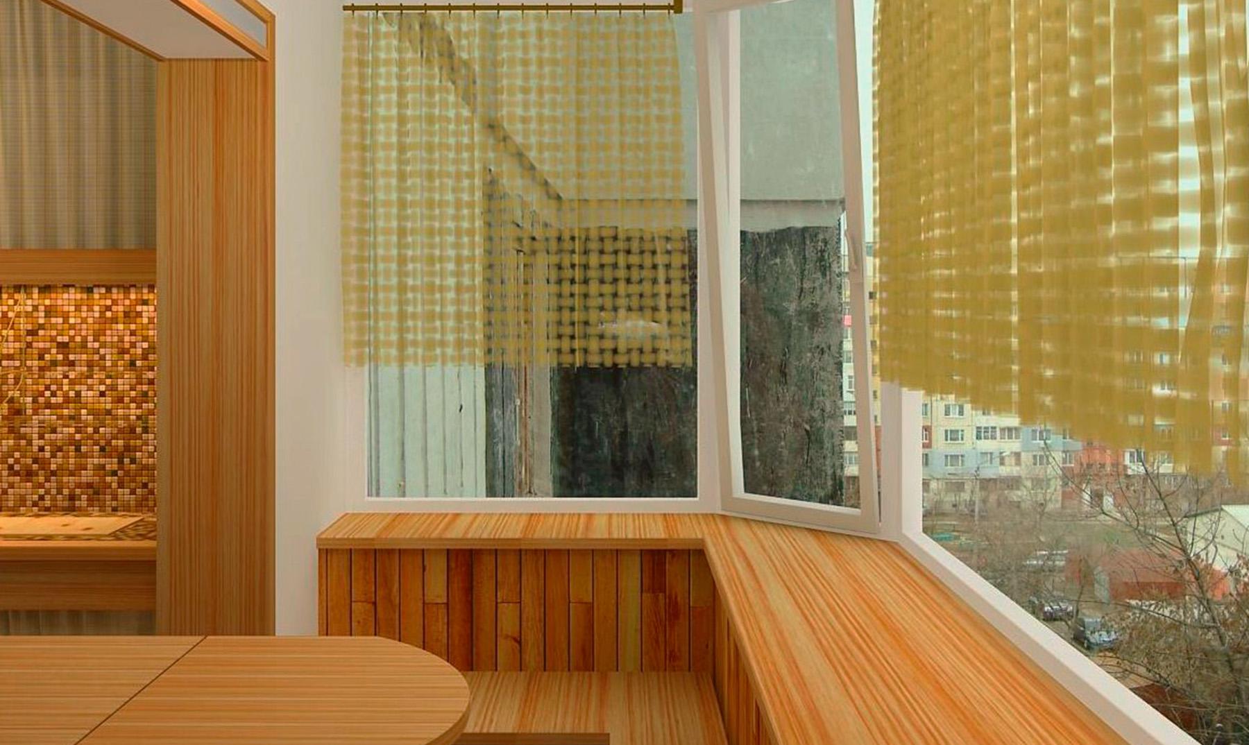 """Остекление балкона с выносом - """"с балконом""""."""